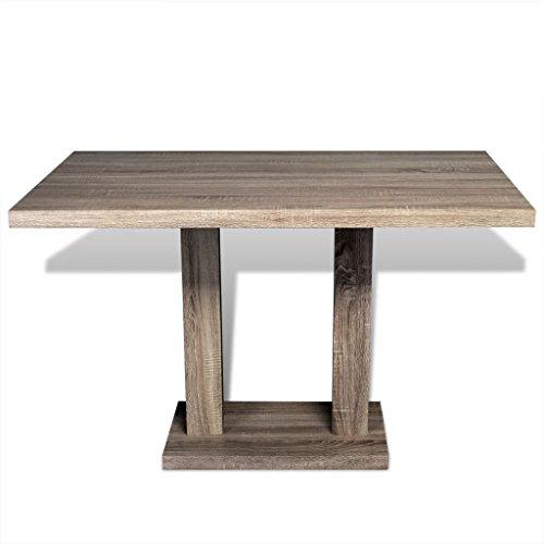 Festnight Rectangular Mesa de Salón Comedor o Cocina,Diseñada con Líneas Limpias,MDF,120x70x75cm Roble