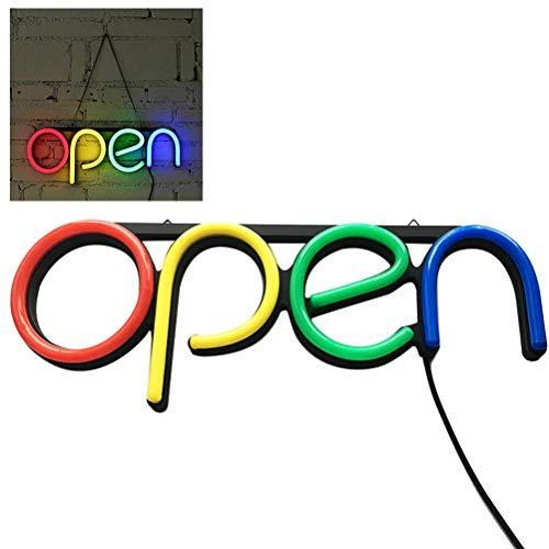 Ysoom LED Leucht Schild Große Helle LED Shop Schild Neonlicht Fenster Tür hängen Zeichen Open Leuchtreklame geöffnet