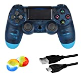 Juego Game-Controller für PS4, kabelloser Controller für Playstation 4 / Windows / Android / iOS, kristallblau