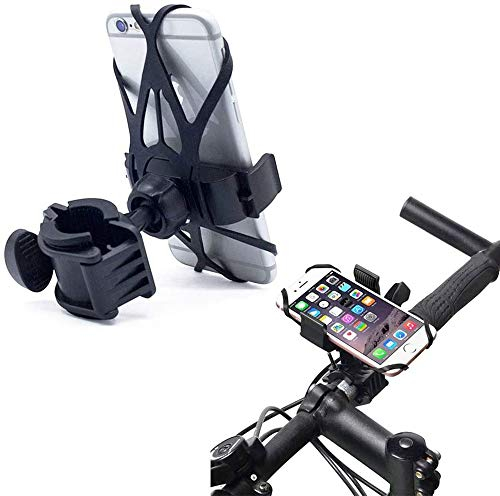 ZOEAST(TM) Universal Out Door Bike Bicycle Adjustable Phone Mount 360° Compatible with All Smart Phone iPhone 11 X XR 8 7 6 5 Plus Android Samsung Galaxy S10 Motorcycle Sports Holder (Black)