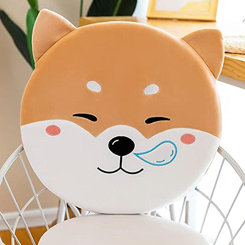 GINDU Memory Cotton Animal Cushion Pack Plush Toys Comfort Office Home Clock Pad-Pink Cattle (Cushion)_40 40 4 cm Color : Dog (Cushion) , Size : 40*40*4 cm