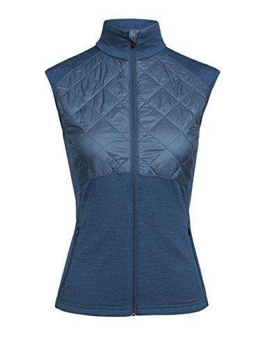 Icebreaker Merino Women's Ellipse Vest, Prussian Blue, Medium