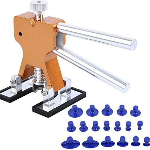 Edmend Karosserie-Dent-Reparatur-Werkzeug 19pcs Saug-Zeichenwerkzeug Ausbeul Reparatursätze Anzug von Auto Auto Reparatur Werkzeug Auto dellenreparatur (Size : Golden)