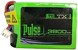 Pulse 3800mAh 2S 7.4V Transmitter Pack for FrSky QX7 - LiPo Battery