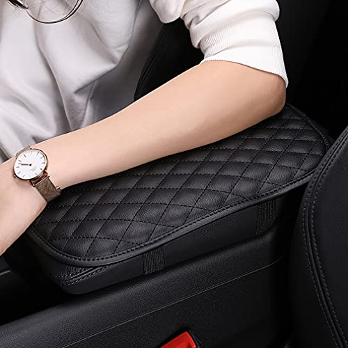 AUPER Car Armrest Seat Box Cover Protector, Auto Center Console Pad PU Leather Cover Protector for Most Vehicle, SUV, Truck, Car