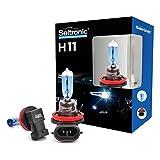 Seitronic 2x H11 Xenon Style Lampen mit E-Prüfzeichen, Xenon Look Lampen Weiss, Xenon Style Birnen Brenner, Xenon Blue HID Lampen - Halogen Xenon Lampen