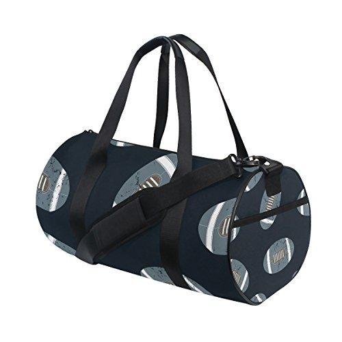 TIZORAX - Bolsa de viaje para balones de fútbol americanos, bolsa de gimnasio, bolsa para tambor