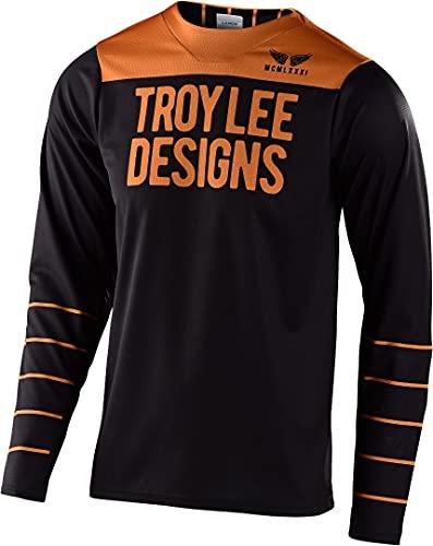 Troy Lee Designs Skyline Long-Sleeve Jersey - Men's Black/Gold, S