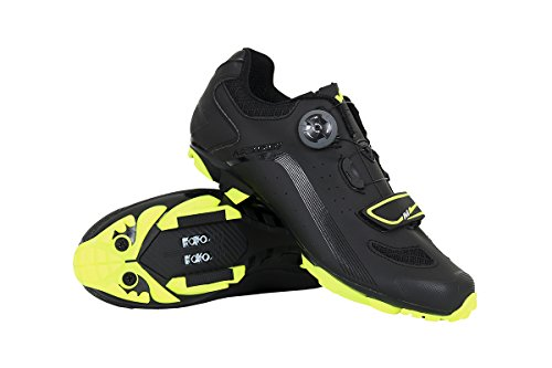 Massi MTB KENTO T.40, Zapatillas de Ciclismo de montaña Unisex Adulto, Amarillo (Neon Neon), 40 EU