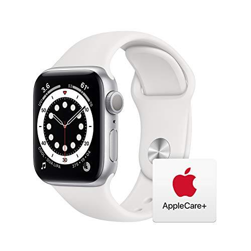 最新 AppleWatch Series 6(GPSモデル)- 40mmシルバーアルミニウムケースとホワイトスポーツバンド   AppleCare  セット
