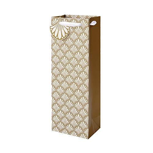 Clairefontaine X-28230-4C - Geschenktüte, ideal für Flaschen, 12,7 x 9 x 35,5cm, 1 Stück, Art Deco