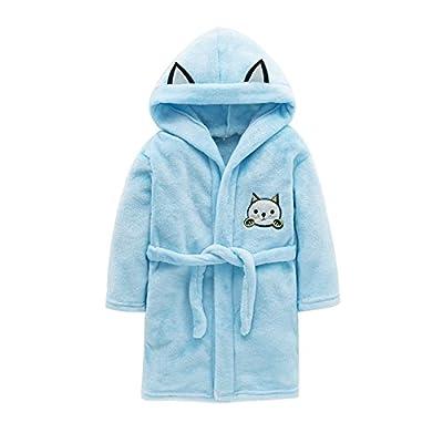 Kimjun Kids Bathrobes for Girls Boys Soft Flannel Robe Baby Toddler Unisex Bathrobe Sleepwear 3-8t