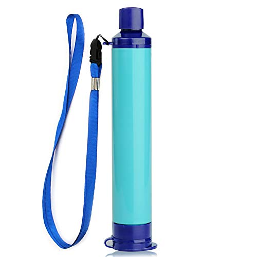Membrane Solutions Straw Water Filter,Survival Filtration Portable Gear,Emergency Preparedness,Supply for Drinking Hiking Camping Travel Hunting Fishing Team Family Outing (1Pack)