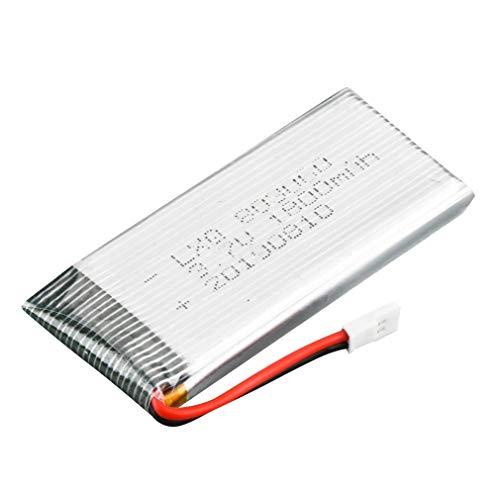 Batería Recargable de Lipo de 3.7V 1800mah para LF609 FPV RC Drone Accesorios Blanco