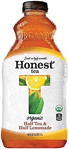 Honest tea Organic Fair Trade Half Tea & Half Lemonade Gluten Free, 59 fl oz (8 Pack)