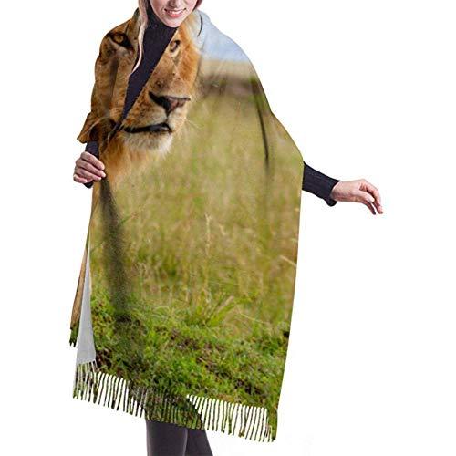 Archiba Winter Schal Cashmere Feel Schönste Löwe Masai Mara Schals Stilvolle Schal Wraps Weiche Warme Decke Schals Für Frauen