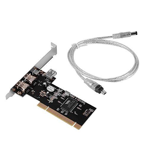 XCSOURCE 4 Puertos PCI Firewire Adaptador de la Tarjeta 1394 1394-3 Externa 1 Interna AC534