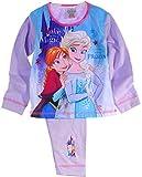Schlafanzug Kinder Pyjama Hose Shirt Frozen Disney Eiskönigin Anzug Anna & ELSA (2/3-92/98)