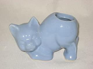 Vintage Morton Art Pottery - Blue Cat Cactus Planter