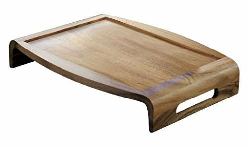 Lipper International Acacia Reversible Serving Tray, 20.75'...
