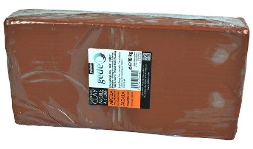 gedeo - Argilla da Modellare, 10 kg, Colore: Rosso