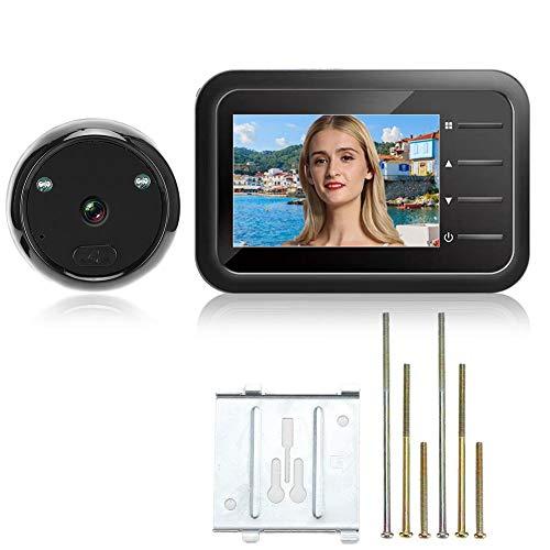 2,4-inch deurviewer, 720P deurcamera met digitale video-deurbel, kijkgaatje met nachtzicht voor huisbeveiliging, 120 ° groothoek.