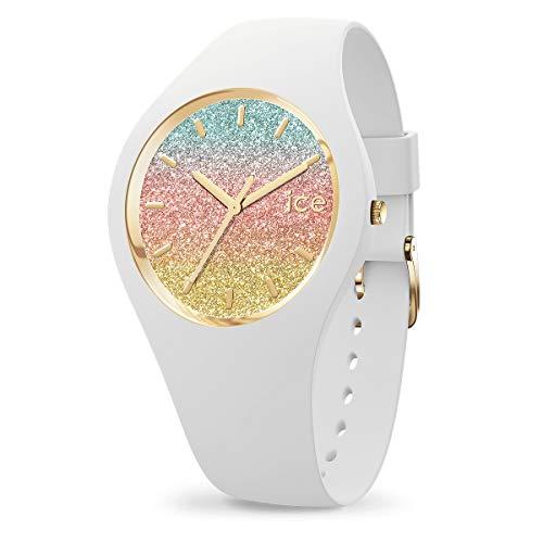 ICE-WATCH ICE Lo Malibu - Reloj Blanco para Mujer con Correa de Silicona, 016901 (Medium)