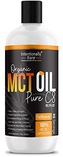 Intentionally Bare MCT Oil Bundle – Organic – High C8 Caprylic Acid - Home and Away - Appetite Suppressant, Metabolism Boosting, Helps with Intermittent Fasting and Ketosis 4