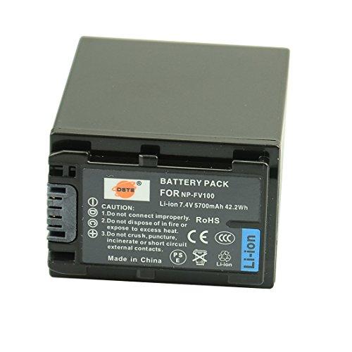 DSTE® NP-FV100 Li-ion Batería para Sony DCR-SR15, SR21, SR68, SR88, SX15, SX21,...