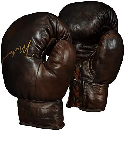 Title Boxing Ali Collectors Leather Autograph Gloves Brown product image