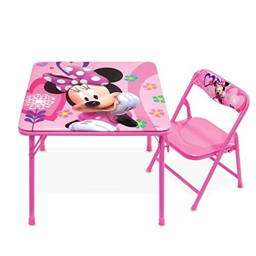 Minnie Mouse Table, Happy Helpers Jr. Activity Table Set with 1 Chair, 20 Inch , Minnie Happy...
