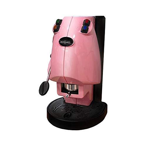 Kaffeepadmaschine ESE Frog Didiesse Limided Edition Rosa Caffè Barbaro für Sie mit 50 Kapseln gratis