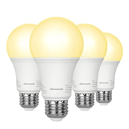 DEWENWILS 4-Pack A19 LED Light Bulbs 100W Equivalent, 1500LM, 3000K Soft Warm Glow, 15W, E26 Medium Screw Base, Non Dimmable, UL Listed
