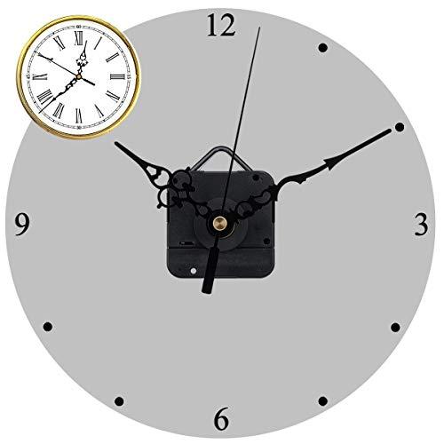 Quarz Uhrwerke Mechanismus Reparatursatz, DIY Wanduhr Uhrwerk mit hohem Drehmoment und Reparatur Kits mit Stunden/Minuten/Sekundenzeiger für (0,6-0,8 Zoll) Zifferblattdicke, 31 mm Lange Spindel Schwar