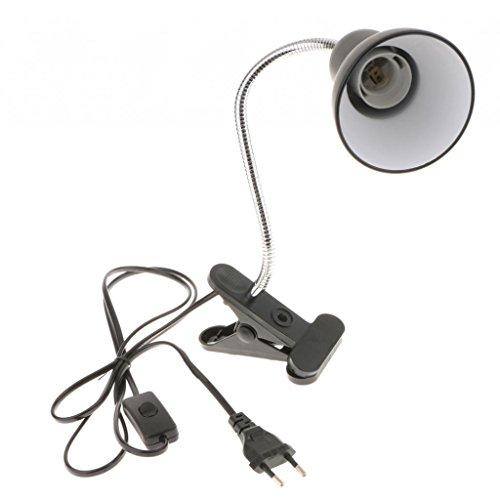 FLAMEER Flexible Tischlampe Klemmleuchte E27 Schwanenhals Schreibtisch Lampen Leselampe für Bett Büro Nachtlesen