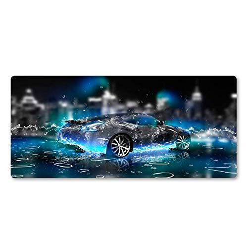 Super Hot Blue Achtergrond Cool Auto Mouse Pad Senior Gamer Grote Toetsenbord Pad Notebook Unieke Stijl Natuurlijke Rubber Matten 30 * 80Cm