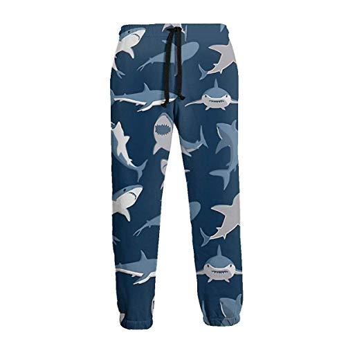 AEMAPE Blue Shark Men 'S Jogginghose Casua Hose mit Taschen
