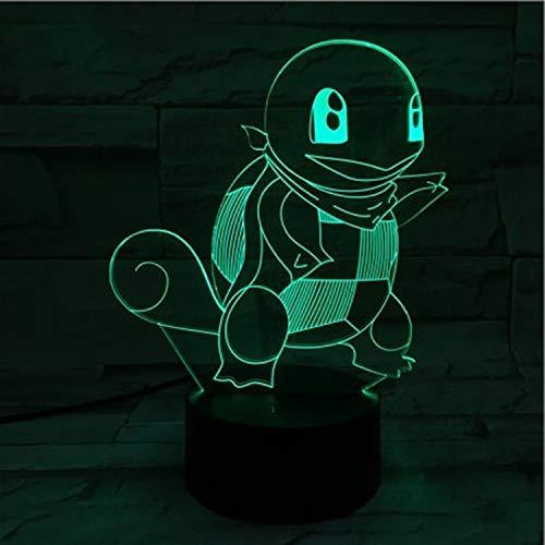 Nachtlicht 3D 7 Farben Snowboard Form Acrylglas mit Touch Fernbedienung Illusion Sport Astronave Geschenk