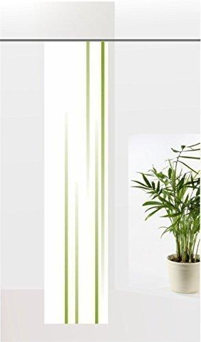 gardinen-for-life Flächenvorhang Linia Green, Schiebevorhang mit Druck-Motiv, Gr.60x260 cm Schlichtes Modernes Motiv