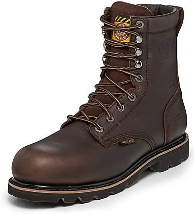 Justin Men's Miner Waterproof Insulated Lace-Up Work Boot Composite Toe