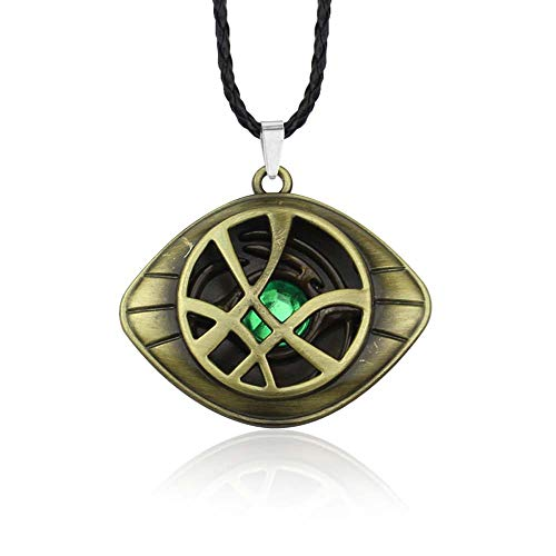 EU_LevinArt Doctor Strange Necklace Crystal Eye of Agamotto Pendant Fashion Necklaces