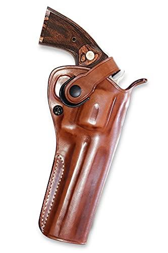 Premium Leather Three Slots Belt Holster with Retention...