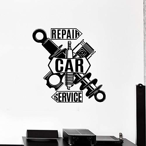 Servicio de reparación de automóviles etiqueta de la pared decoración del garaje detalle vinilo ventana etiqueta de la puerta decoración del hogar dormitorio adolescente fondo-50x50cm