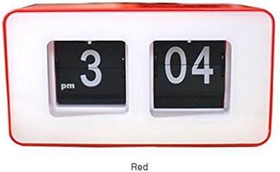 Shuangklei Reloj Despertador Digital Flip Clock Personalidad Sencilla Estudiante Clock Led Cuadrado De Moda Dormitorio.