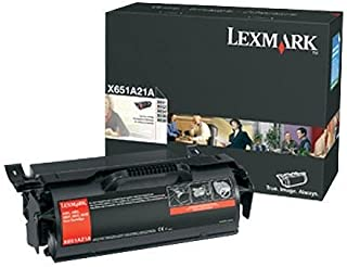 Original Lexmark X651A21A 7000 Yield Black Toner Cartridge - Retail