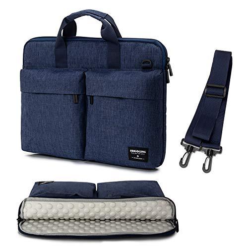 17 17.3 inch Laptop Sleeve Case Bag Slim Laptop Carrying Case Messenger Shoulder Bag Compatible with HP Asus Dell Blue