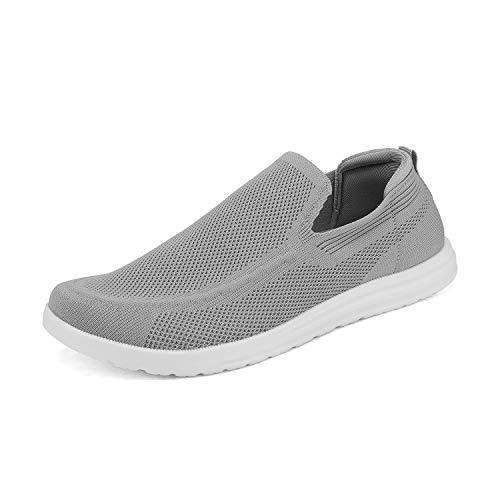 Bruno Marc SUNVEN Zapatillas Deportivo para Hombres Zapatillas de Deporte Hombres sin Cordones Running Zapatos Gimnasia Entrenamiento Sneakers Transpirables Gris Claro 41.5 EU/8.5 US