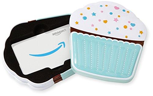 Carte cadeau Amazon.fr dans un coffret Cupcake