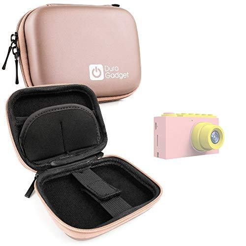 Duragadget - Funda rígida para cámara de fotos digital infantil de 2 pulgadas, color azul y rosa