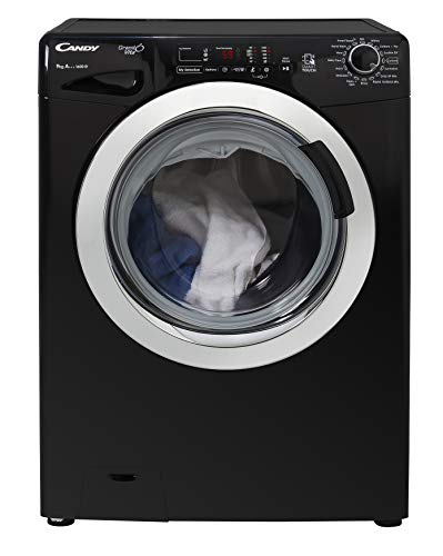 Candy GVS 169DC3B Freestanding Washing Machine, NFC Connected, 9Kg Load, 1600rpm spin, Black